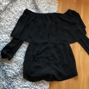 Misguided Off the Shoulder Long Sleeved Romper